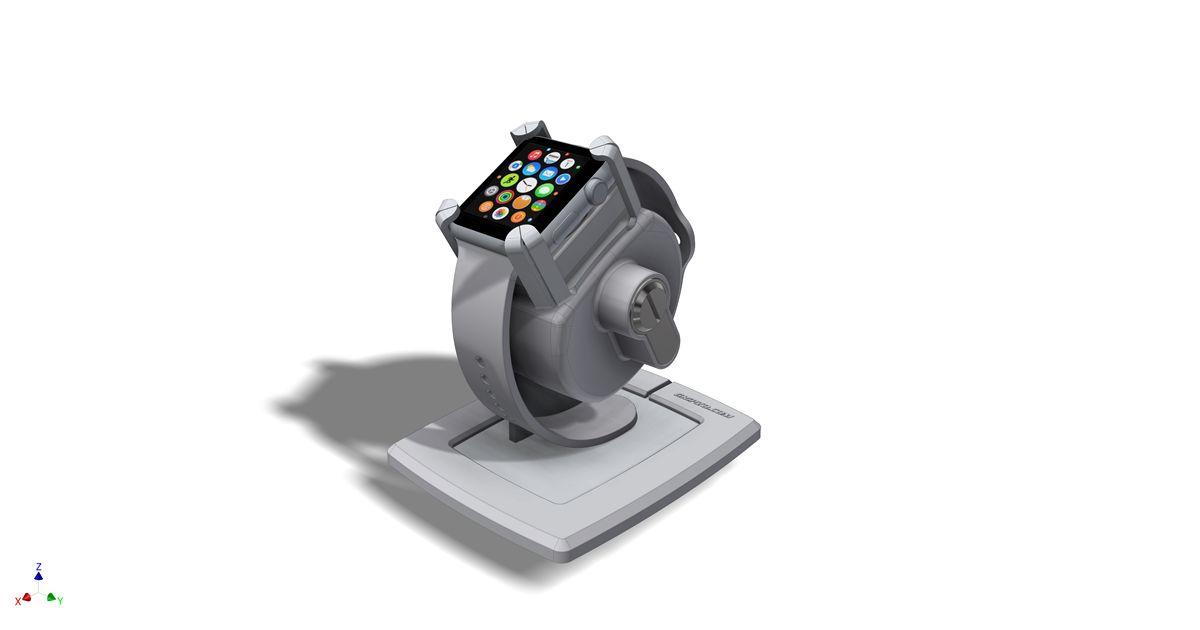 Gripzo, gripzo.com, smartwatch, slim horloge, houder, beveiliging, holder, security, black, white, wit, zwart